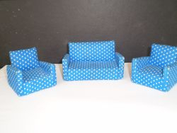 Blue Polka Dot Suite by Barton