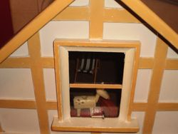 Attic accessed from a small door at the back