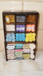 Wool display finished!
