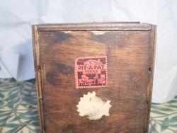 Back of desk showing label