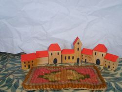 Nursery houses and rug
