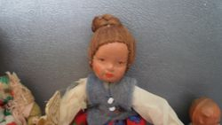 Caco doll with hair in a bun