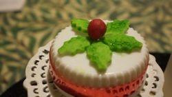 Christmas Cake Close Up