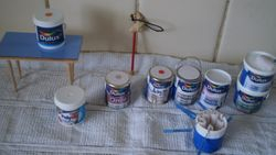 Paint tins finished!