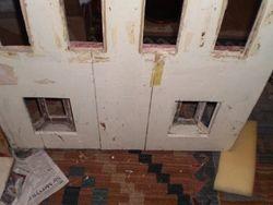 Inside showing vanished front door.