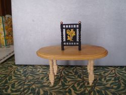 New legs on table & Firescreen from an odd piece in a Job Lot