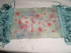 Violet's Tumble dryer blanket fluff rug.