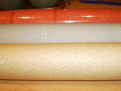 I bought 5 rolls of wallpaper at the Charity shop!