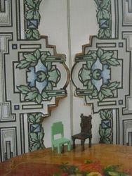 Blue and green art nouveau