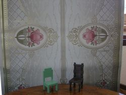 Pink, green and gold Art Nouveau