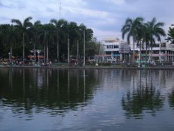 The Barangay SAng Virgen Building Behind the Capitol Lagoon