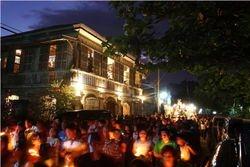 Balay Ni Tana Dicang Lit Up for Good Friday Procession
