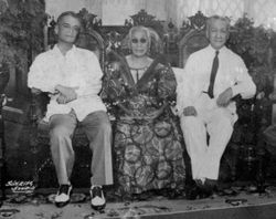 Enrica with Manuel L. Quezon and Sergio Osmena