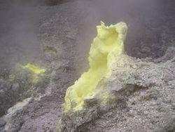 Sulfur yellow in Sulfutara