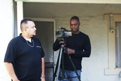 Charles Butler and I on location