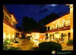 Mediterranean Pool and Suites at Night