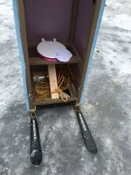 Outhouse races at Lake Desolation