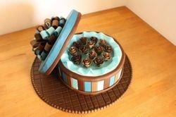 Gift Rose Box Cake