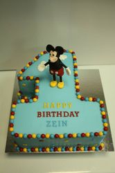 Mickey Number 1 Cake