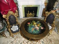 Table and Chairs from Barbies Victorian Mansion