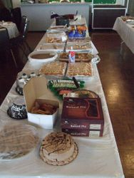 Food Table BEFORE