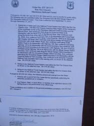 Forest Closure Letter #2