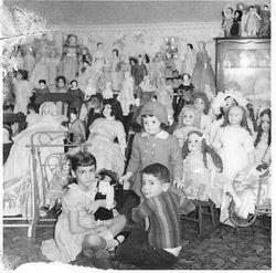 Me & my sister at grandmas house 1969
