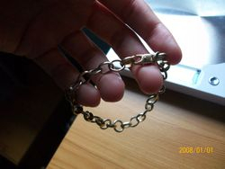 9ct gold and silver bracelet