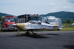 Noel Fallwell departs in his RV-6A for the fly-in in Asheboro