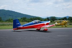 Dennis & Brandon Roberts arrive in their RV-7