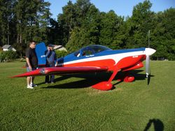 Dennis Roberts and Bill Terrill in front of Dennis' RV-7