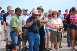 Jason Harris, Jim and Sandy Dukeman at Able Flight Ceremony