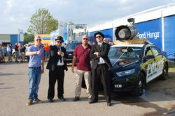 Kent's friends Philipp and Thomas Stute with the Blues Brothers