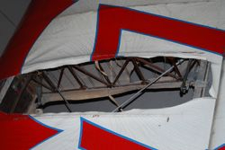 GeeBee wing in the museum - looks just like a Skycoupe!