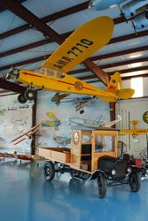 The yellow plane is an R/C model with a half-VW engine!