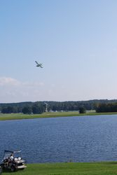 An Aventura took off from the lake at the north end of the field