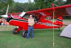 EAA1114 member Chris McClure and his Husky