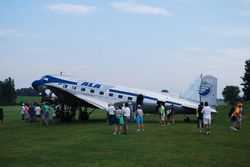 Alexander's plane is the 2nd highest-time DC-3 flying with over 80,000 hours on the airframe