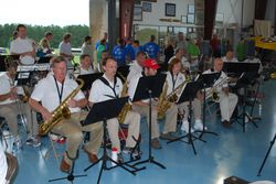The swing band Saturday PM was terrific