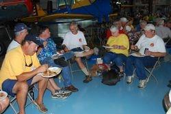 EAA1114 crew enjoys dinner Saturday
