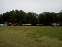 Airplanes at Cox for picnic, photo courtesy Michael Crowder