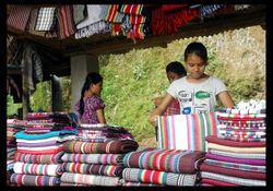 Hand woven clothes on sale, Rangamati