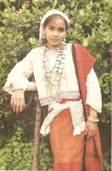 A Tanchangya girl with traditional clothing