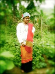 with tanchangya traditional dress