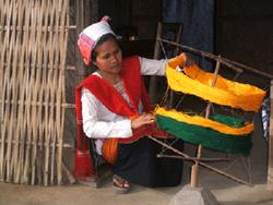 Preparing threads for weaving