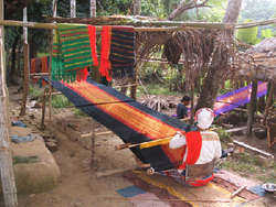 Weaving Pinoin (traditional skirt)