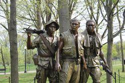 The Vietnam Memorial in Washington D.C