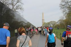 The Wall and Washington Monument