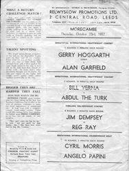 Gerry facing Alan Garfield.