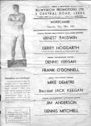Gerry wrestled Ernie Balwin twice, with both matches ending in a draw.